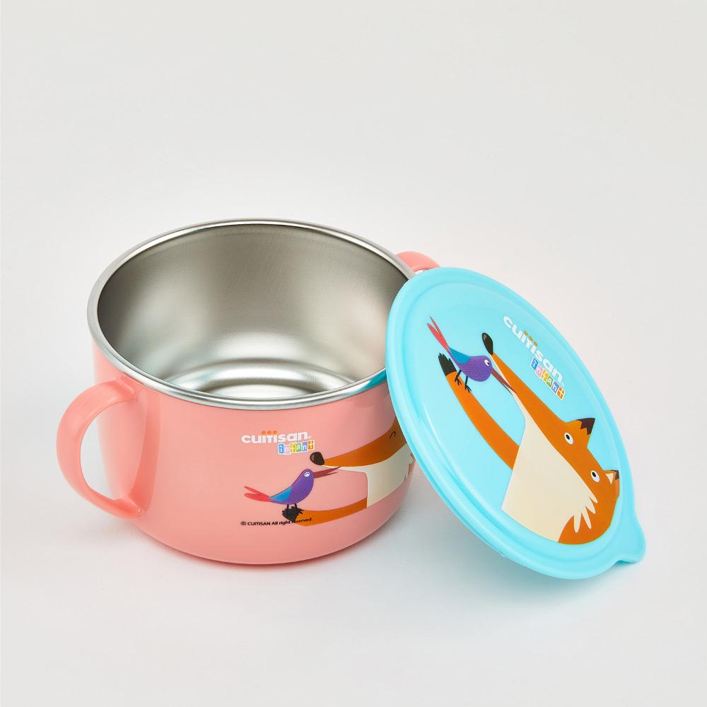 限時特價【Cuitisan酷藝師】316可微波不鏽鋼(適用5-13歲) 酷夢系列-小狸湯碗