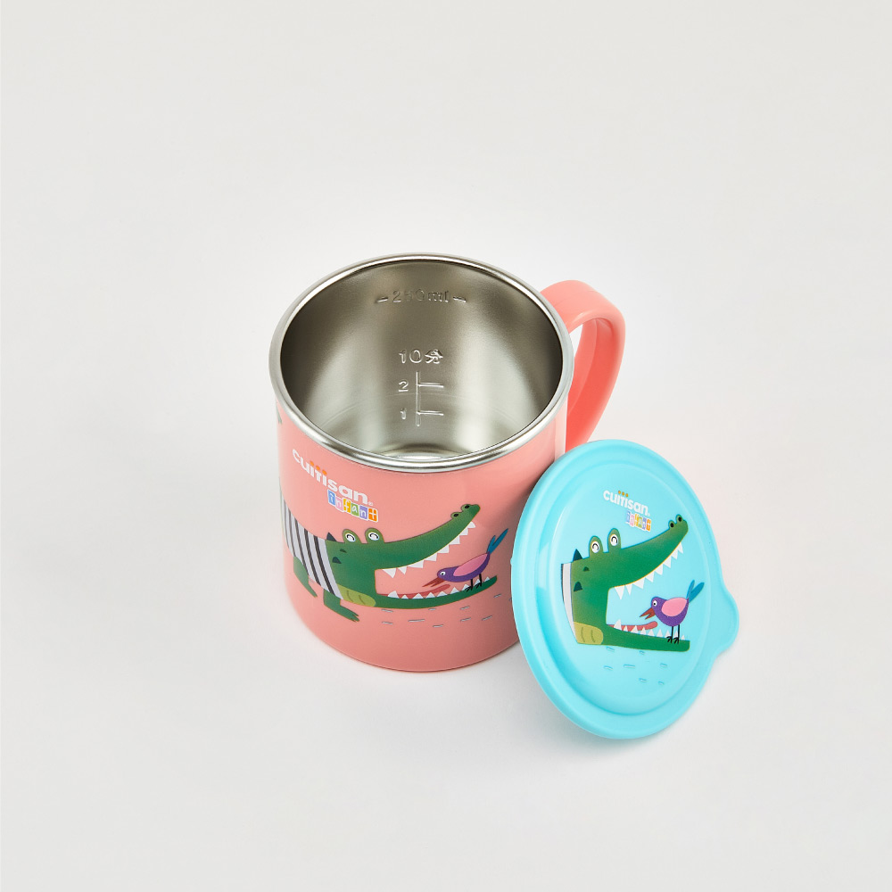限時特價【Cuitisan酷藝師】316可微波不鏽鋼(適用1-6歲) 酷夢系列-小鱷馬克杯