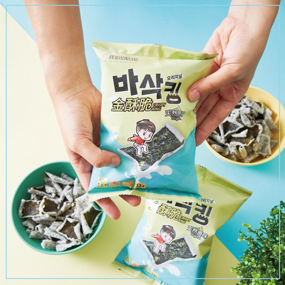 韓爸田園日記-金酥脆海苔片-四種口味(20g/包)