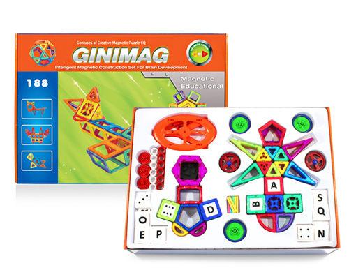 188片GINIMAG 磁性建構片 積木 益智玩具 磁鐵玩具 (Magformers相容)