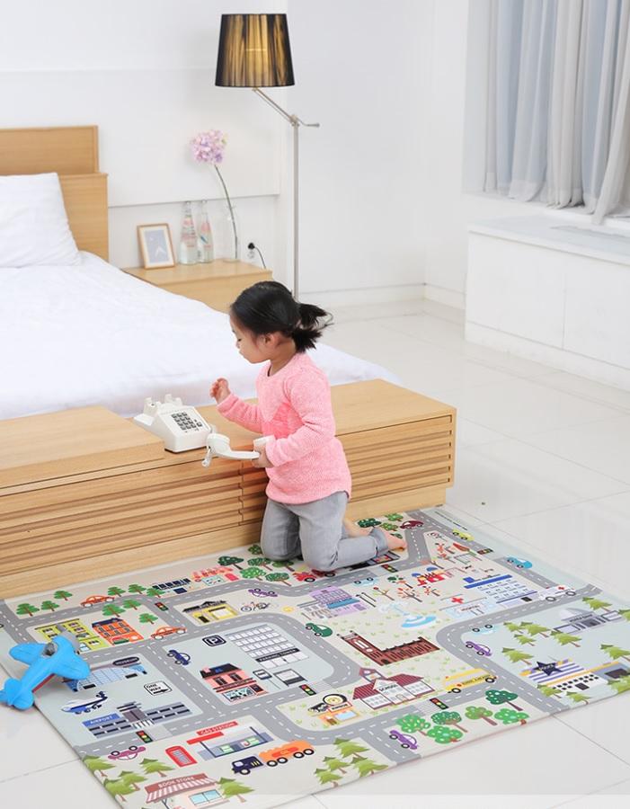 韓國夜光多功能防塵蹣地墊/床墊/遊戲墊 城市街道款