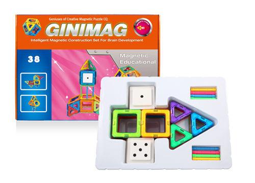38片GINIMAG 磁性建構片 積木 益智玩具 磁鐵玩具 (Magformers相容)
