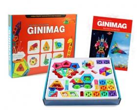 228片GINIMAG 磁性建構片 積木 益智玩具 磁鐵玩具 (Magformers相容)