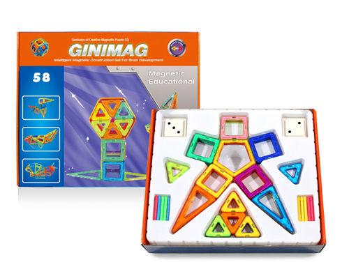 58片GINIMAG 磁性建構片 積木 益智玩具 磁鐵玩具 (Magformers相容)