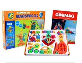 325片GINIMAG 磁性建構片 積木 益智玩具 磁鐵玩具 (Magformers相容)加贈專屬收納箱