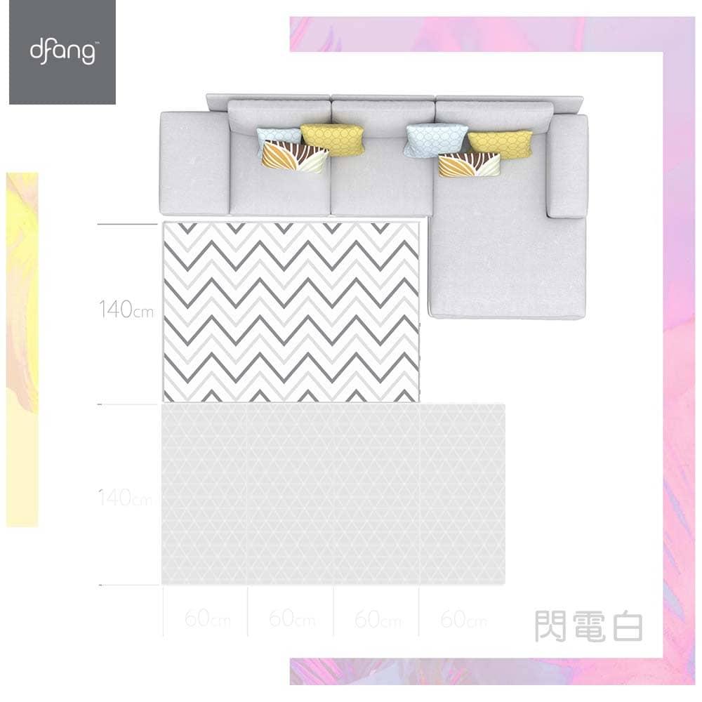 HANPLUS X dfang 寵愛寶貝果凍地墊(地毯式)閃電白