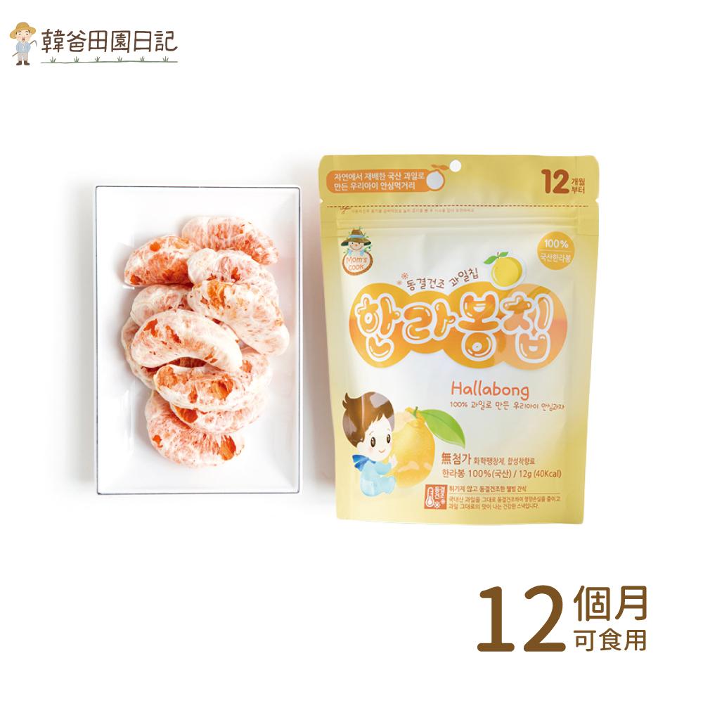 韓爸田園日記-寶寶乾水果片(漢拏峰橘)