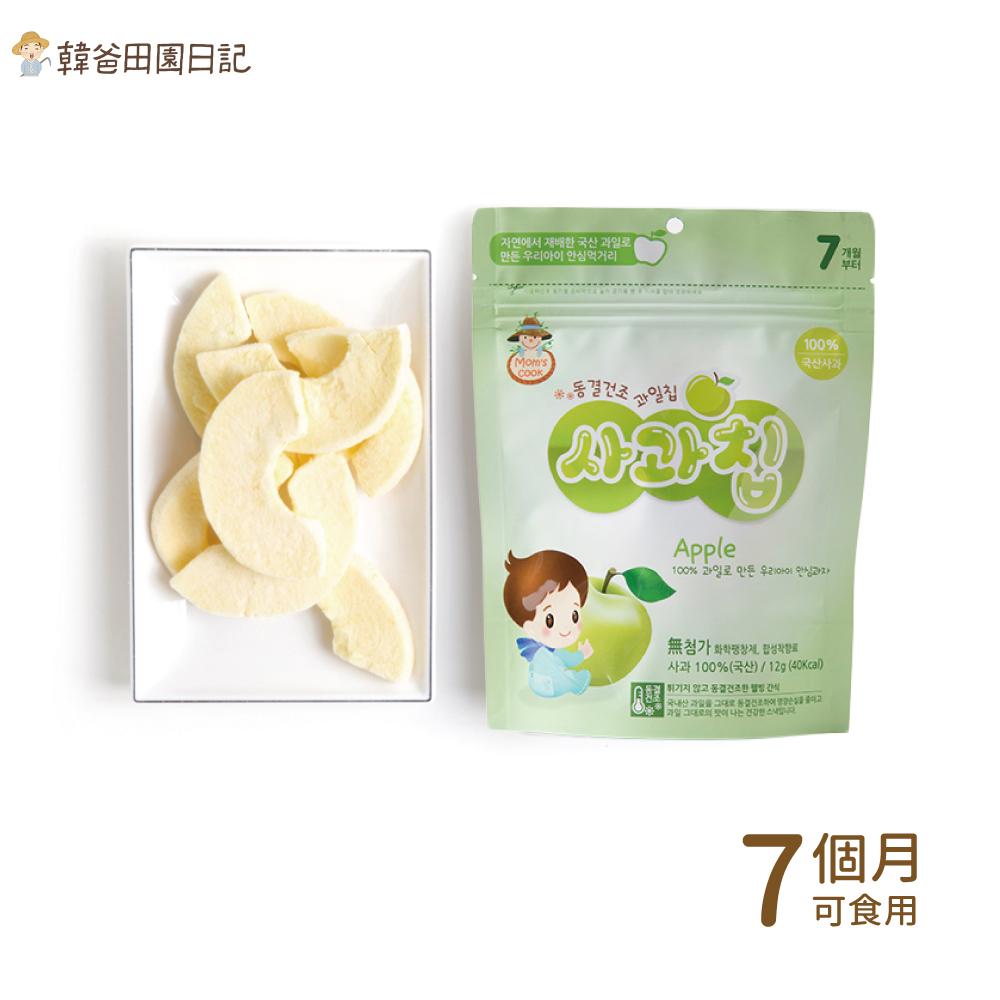 韓爸田園日記-寶寶乾水果片(蘋果片)
